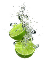 Naklejka Lime with water