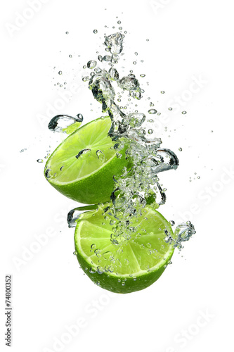 Fotografie, Obraz  Lime with water