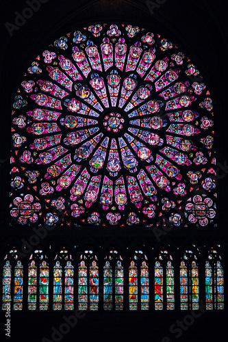 Fotografie, Obraz  North Rose Window