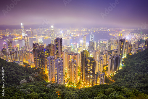 Hong Kong, China City Skyline - 74809147