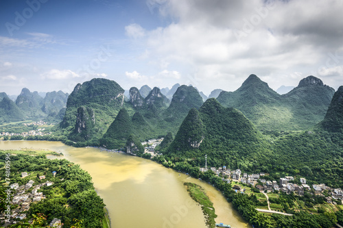 Karst Mountains in Guilin China