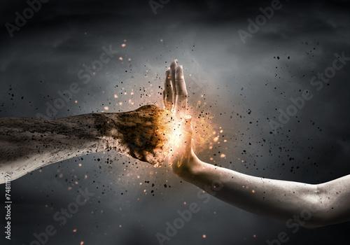 Stop the violence Fototapet