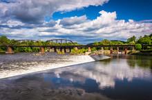 Dam And Train Bridge Over The ...
