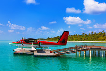 Seaplane At Maldives