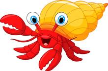 Cartoon Hermit Crab