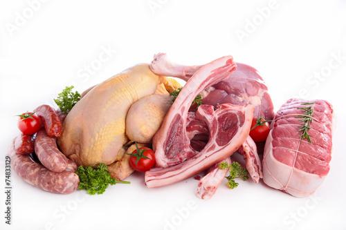 Door stickers Meat assorted raw meats