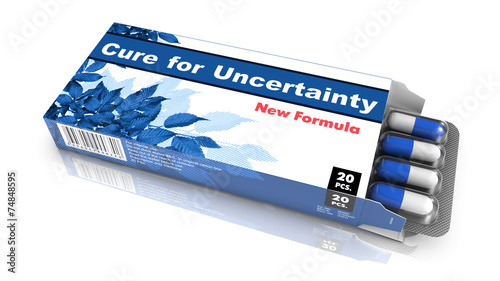 Cure for Uncertainty - Blister Pack Tablets. Canvas Print