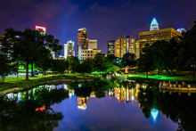 The Charlotte Skyline Seen At ...
