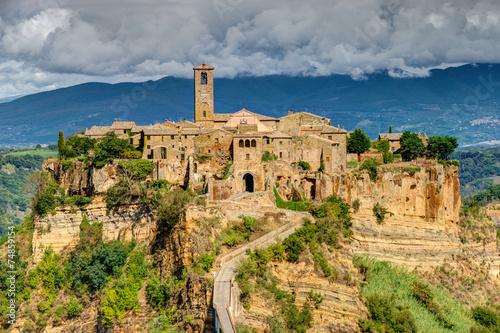 Obraz Civita di Bagnoregio, Lacjum, Włochy - fototapety do salonu