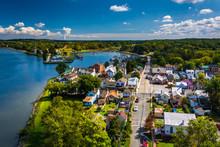 View Of Chesapeake City From The Chesapeake City Bridge, Marylan