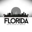 Florida USA Skyline Silhouette Black vector