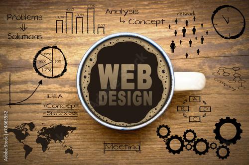 web design Fototapete