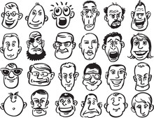 Set Of Caricature Faces