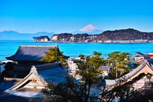 鎌倉のお寺と富士山