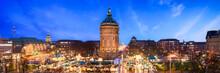 Mannheim Stadtansicht Mit Wasserturm