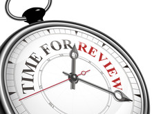 Time For Review Concept Clock