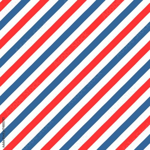 Fototapeta Vintage styled Barber Shop seamless pattern obraz