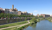 The Segre River In Lleida, Spain