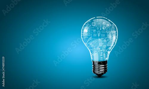 Photo  Light bulb with gears