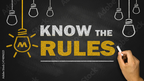 know the rules Canvas Print