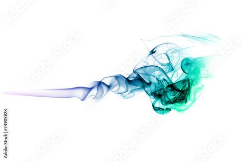 Fotografie, Obraz  Colored smoke on white