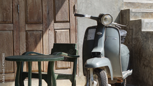 vespa retro background Canvas-taulu
