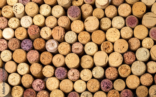 wall of used wine corks. #74913579