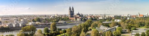 Fototapety, obrazy: Panorama von Magdeburg 07127