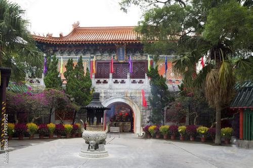Гонконг. Монастырь По Линь на острове Лантау. Poster