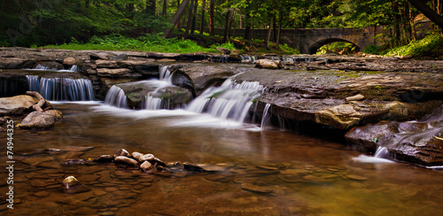 Fotografie, Obraz  Cascades on Wolf Creek, Letchworth State Park, New York.