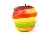 Multicolored apple: red, green and yellow