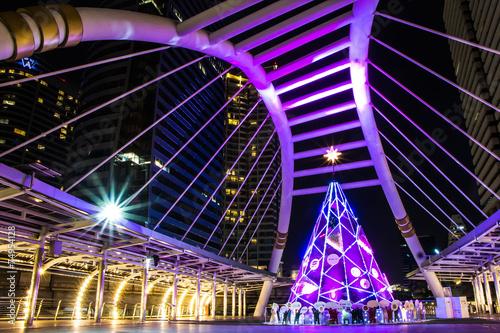 Fototapeta  BTS BRT Sky Bridge Bangkok thailand