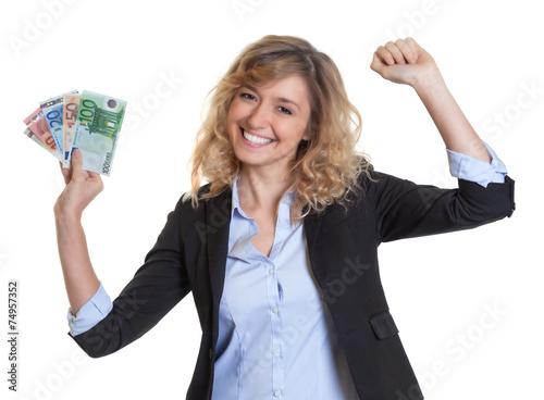Fotografía  Frau mit blonden Haaren gewonnen sombrero