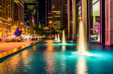 Fountains At Night, In Rockefe...