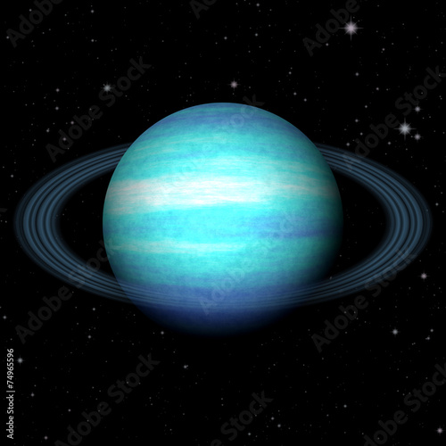 Abstract Uranus planet generated texture background Wallpaper Mural
