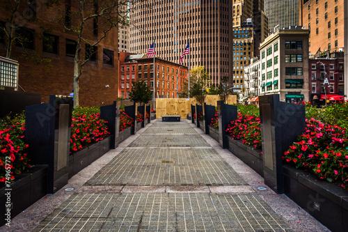Gardens at the New York Vietnam Veterans Memorial Plaza in Lower
