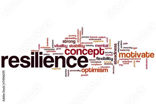 Fotografía  Resilience word cloud
