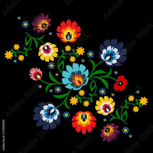 tradycyjny-polski-kwiatowy-wzor-ludowy