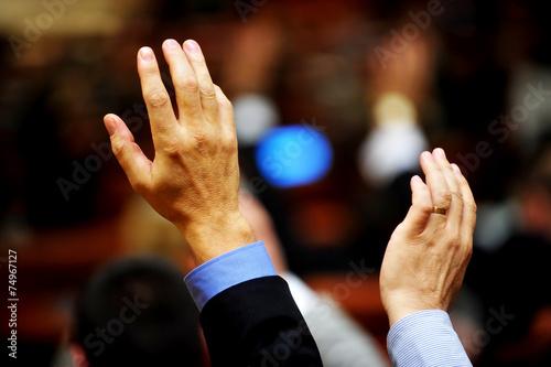 Fotografie, Obraz  Hand vote