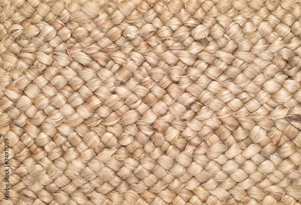 Fototapety, obrazy: Woven Sisal & Wool Rug Background