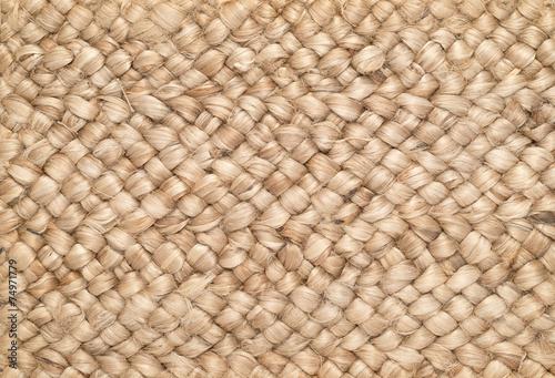 Fotografiet  Woven Sisal & Wool Rug Background