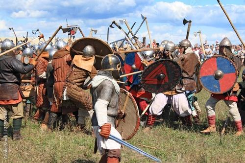 Fotografie, Obraz  Středověká bitva výstava Voinovo Pole (Field Warriors ')