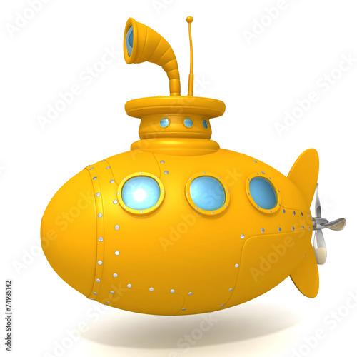 Láminas  Submarine 3d illustration