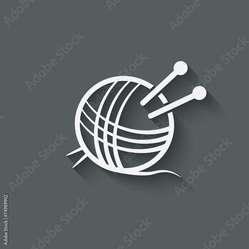 Fotografie, Obraz  knitting symbol