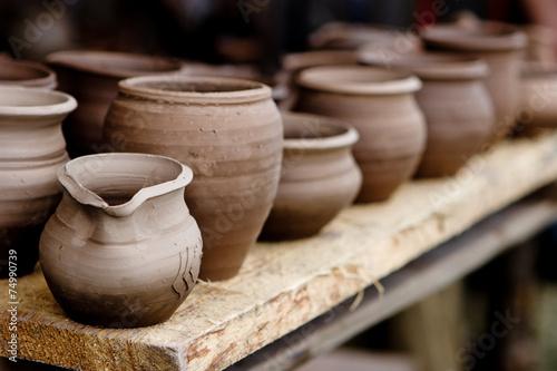 Pottery in crafts fair Fototapeta
