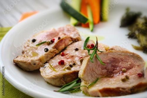 Fotografie, Obraz  Slices of tenderloin