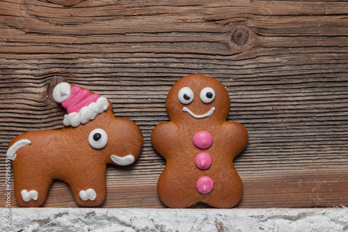 Gingerbread Man And Reindeer Buy This Stock Photo And Explore
