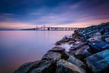 Long Exposure Of A Jetty And T...