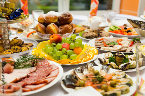 Fotografie, Obraz  Served for a banquet table