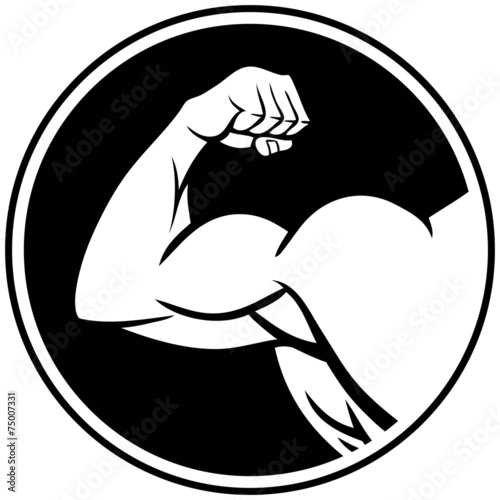 Canvas Print Strong Arm Symbol